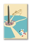 DC, Washington Monument: Fridge Magnet (1 QT)