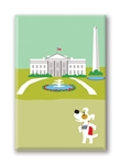 DC, White House: Fridge Magnet (1 QT)