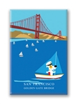 SF: Gold Gate Bridge: Fridge Magnet (NEW) (1 QT)