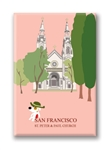SF: St. Peter & Paul Church: Fridge Magnet (NEW) (1 QT)