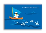 Flying Fish Fridge Magnet