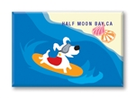 Surfing Dog Fridge Magnet