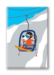 Gondola Riding Dog: Fridge Magnet