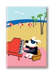 Piano Beach Fridge Magnet