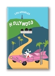 Hollywood Pink Cadillac Rocket Fridge Magnet