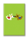 Watering Flowers Fridge Magnet