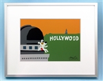 Rocket on top of Griffith Observatory, LA, Hollywood Signage Art Picture, Los Angeles Art